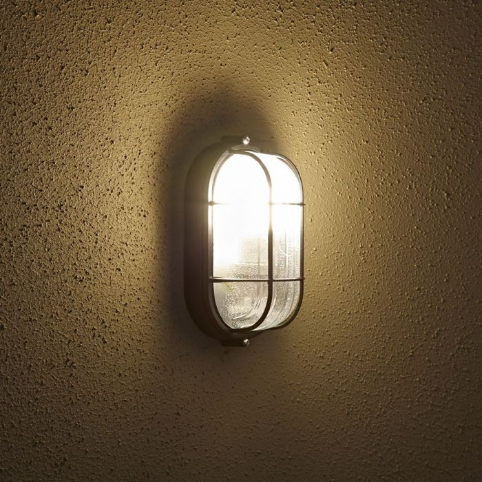 Lampada da Parete Ovale da Esterno ad una Luce