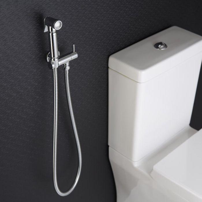 Kit Doccetta Igienica per WC con Doccetta, Clip Murale di Supporto e Flessibile