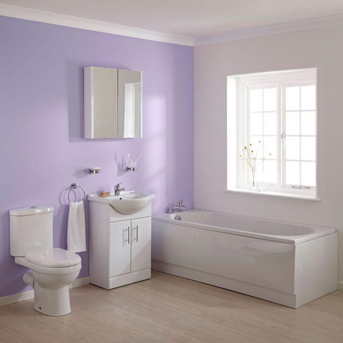 Bagno Completo con Mobile Bagno con Lavabo Integrato, Sanitario con ...
