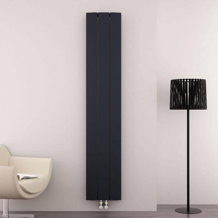 Radiatore di Design Verticale con Attacco Centrale - Alluminio - Antracite - 1800mm x 280mm x 46mm - 1152 Watt - Aurora