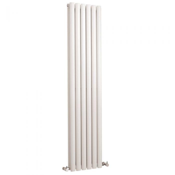 Radiatore Doppio di Design Verticale - Acciaio - Revive Bianco - 1.150 Watt - 1500mm x 354mm X 78mm
