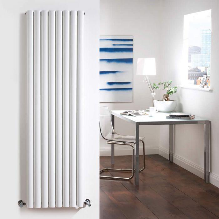 Radiatore di Design Verticale Doppio - Bianco - 1600mm x 472mm x 78mm - 1638 Watt - Revive