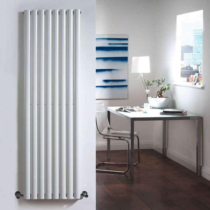 Radiatore di Design Verticale  - Bianco - 1600mm x 472mm x 56mm - 1122 Watt - Revive