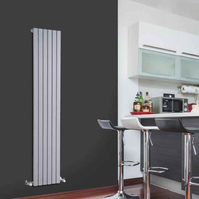 Radiatore di Design Verticale - Argento - 1600mm x 354mm x 54mm - 861 Watt - Sloane
