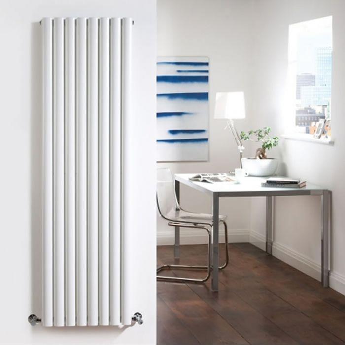 Radiatore di Design Verticale Doppio - Bianco - 1780mm x 472mm x 78mm - 1868  Watt - Revive
