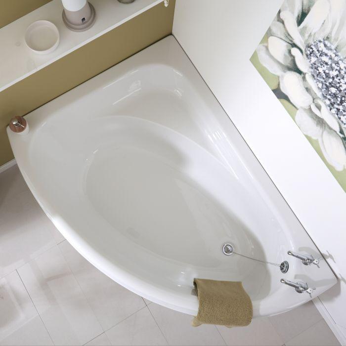 Vasca da Bagno 150x102cm in Acrilico Versione Angolare Sinistra con Pannello