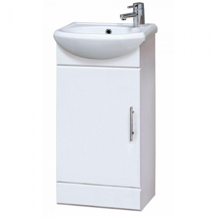Mobile Bagno Bianco con Lavabo Integrato 400x810x290mm
