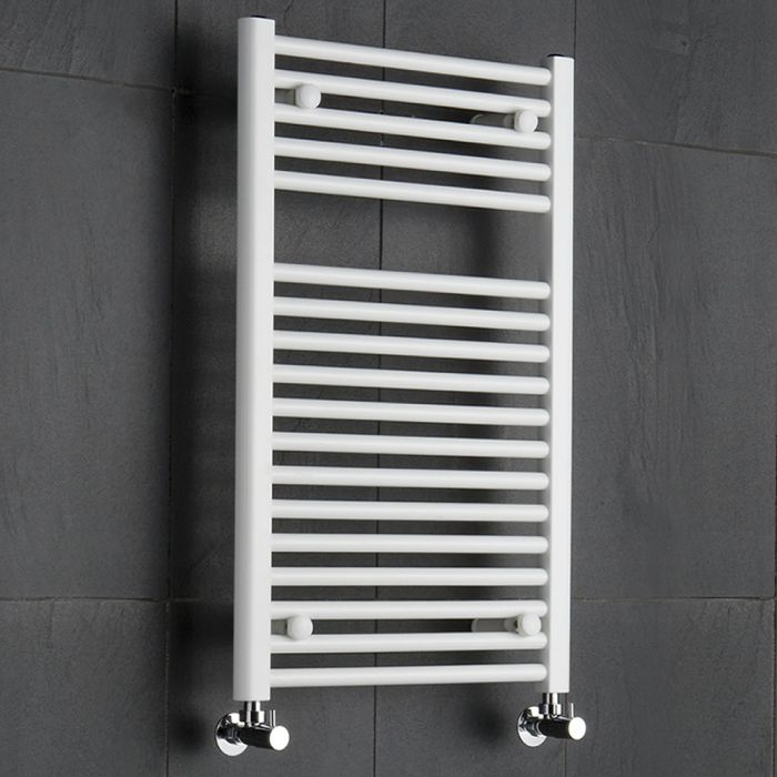 Radiatore Scaldasalviette Piatto - Bianco - 800mm x 500mm x 50mm - 474 Watt - Sterling