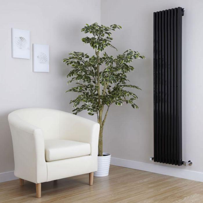 Radiatore di Design Verticale  - Nero - 1600mm x 342mm x 84mm - 1053 Watt - Fin