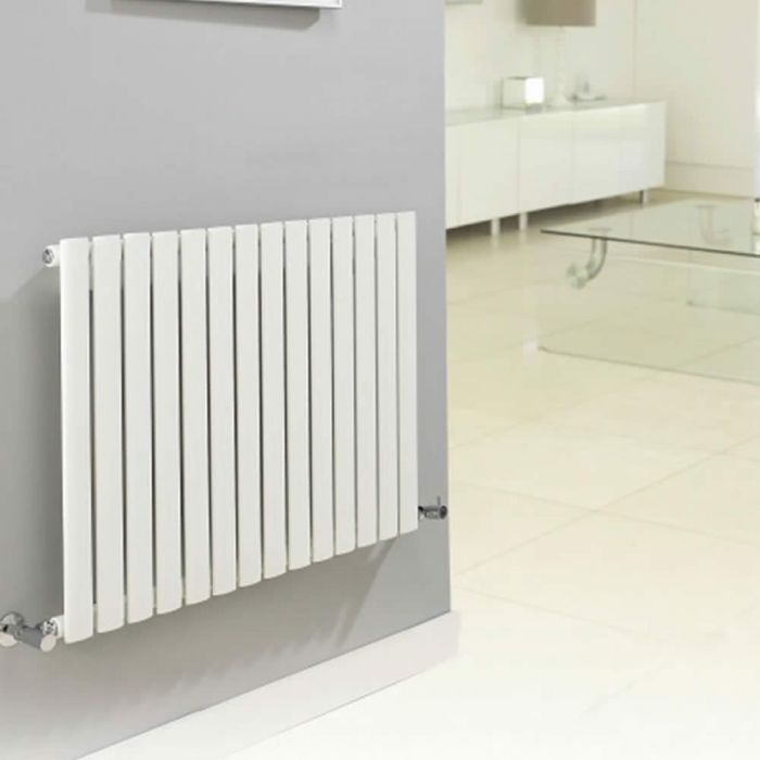 Radiatore di Design Orizzontale  - Bianco - 635mm x 1180mm x 56mm - 1194 Watt - Revive