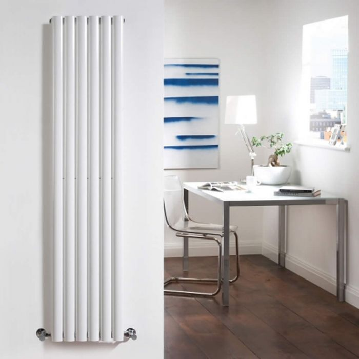Radiatore di Design Verticale - Bianco - 1600mm x 354mm x 58mm - 841 Watt - Revive