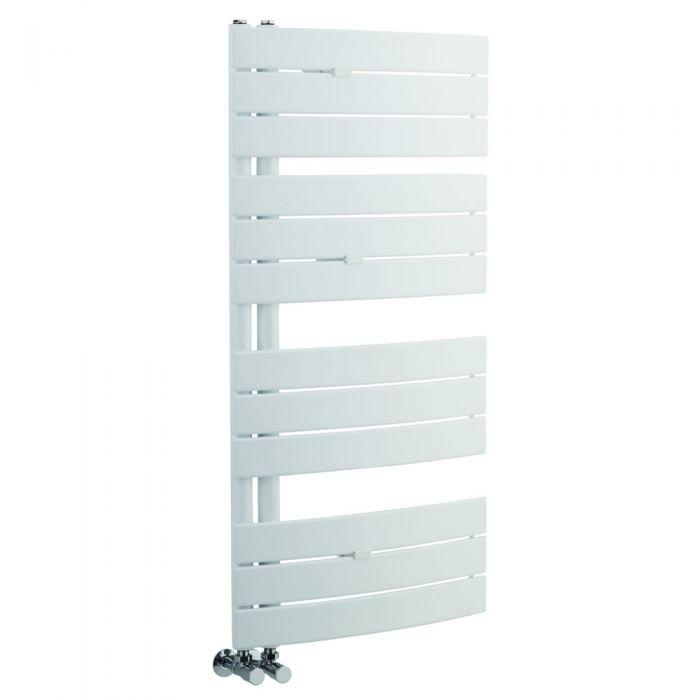 Radiatore Scaldasalviette - Panelli Orizzontali - Acciaio - Bianco - 1080 x 550 mm - 500 Watt - Elgin