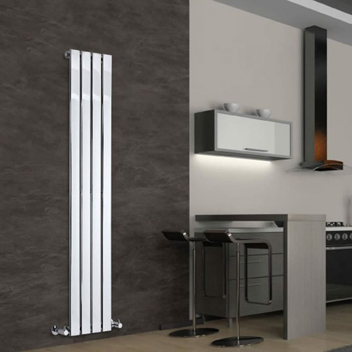 Radiatore di Design Verticale - Cromato - 1600mm x 300mm x 50mm - 393 Watt - Delta