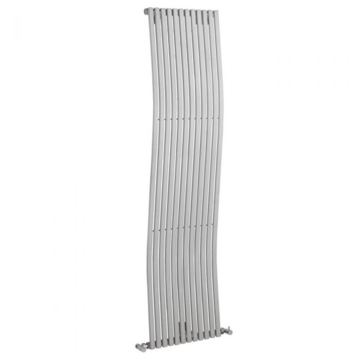 Radiatore di Design Verticale - Argento - 1600mm x 456mm x 90mm - 1185 Watt - Roma