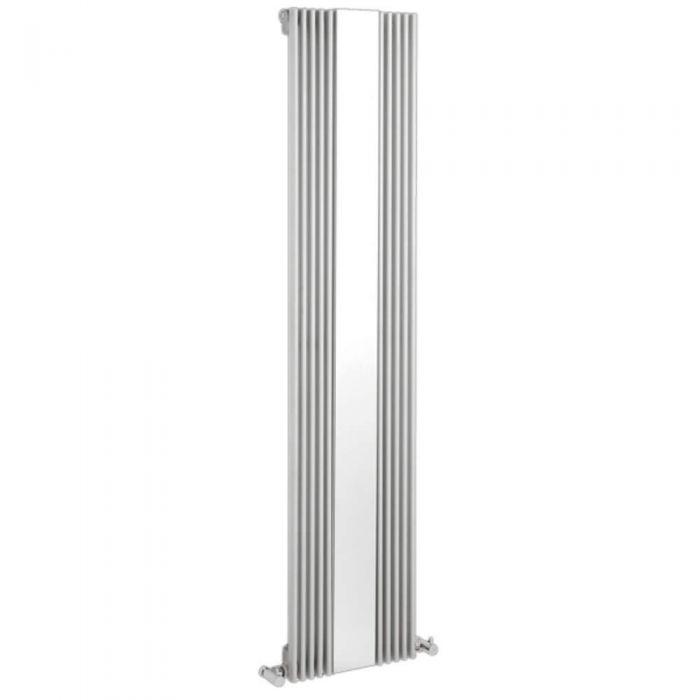 Radiatore di Design Verticale con Specchio - Bianco - 1600mm x 420mm x 63mm - 840 Watt - Keida