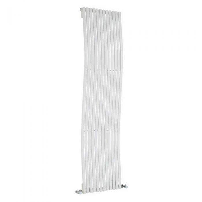Radiatore di Design Verticale - Bianco - 1600mm x 460mm x 90mm - 1185 Watt - Roma
