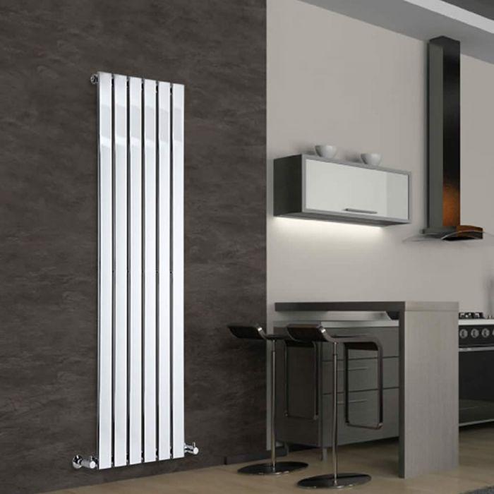 Radiatore di Design Verticale - Cromato - 1600mm x 450mm x 50mm - 590 Watt - Delta