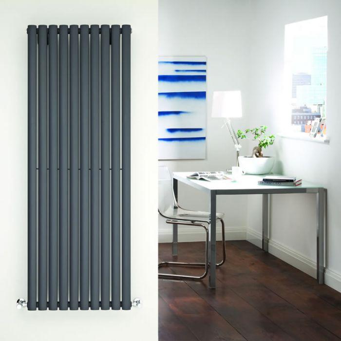Radiatore di Design Verticale - Antracite - 1600mm x 590mm x 55mm - 1402 Watt - Revive