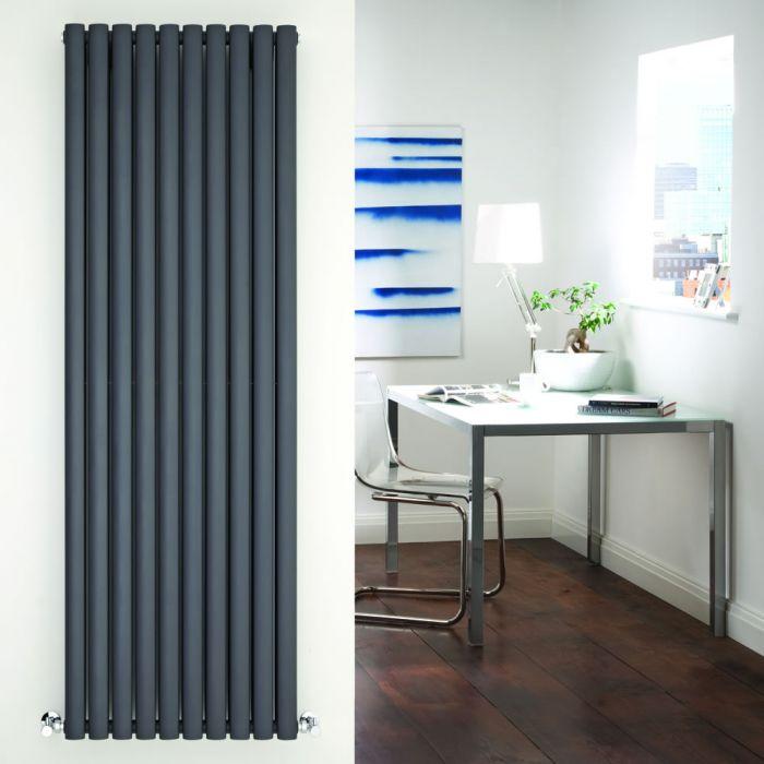 Radiatore di Design Verticale Doppio - Antracite - 1780mm x 590mm x 78mm - 2335 Watt - Revive