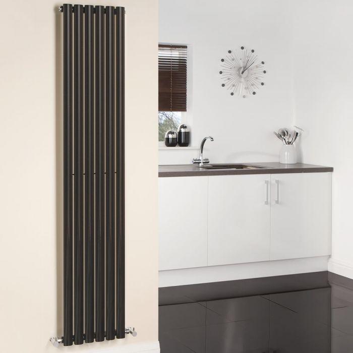 Radiatore di Design Verticale - Nero - 1780mm x 354mm x 56mm - 892 Watt - Revive