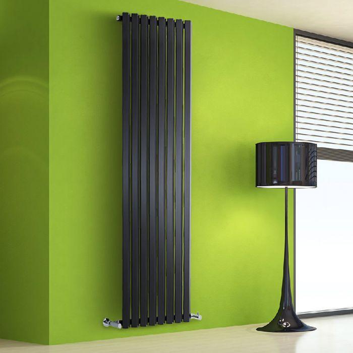 Radiatore di Design Verticale - Nero - 1780mm x 560mm x 60mm - 1401 Watt - Rombo