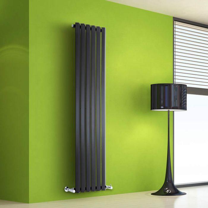 Radiatore di Design Verticale - Nero - 1600mm x 420mm x 60mm - 946 Watt - Rombo