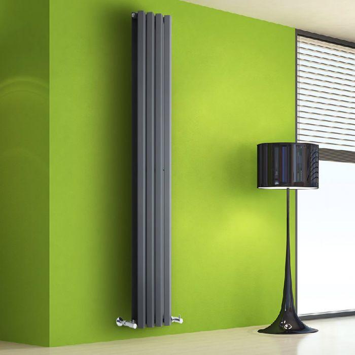 Radiatore di Design Verticale Doppio - Antracite - 1780mm x 280mm x 86mm - 1079 Watt - Rombo