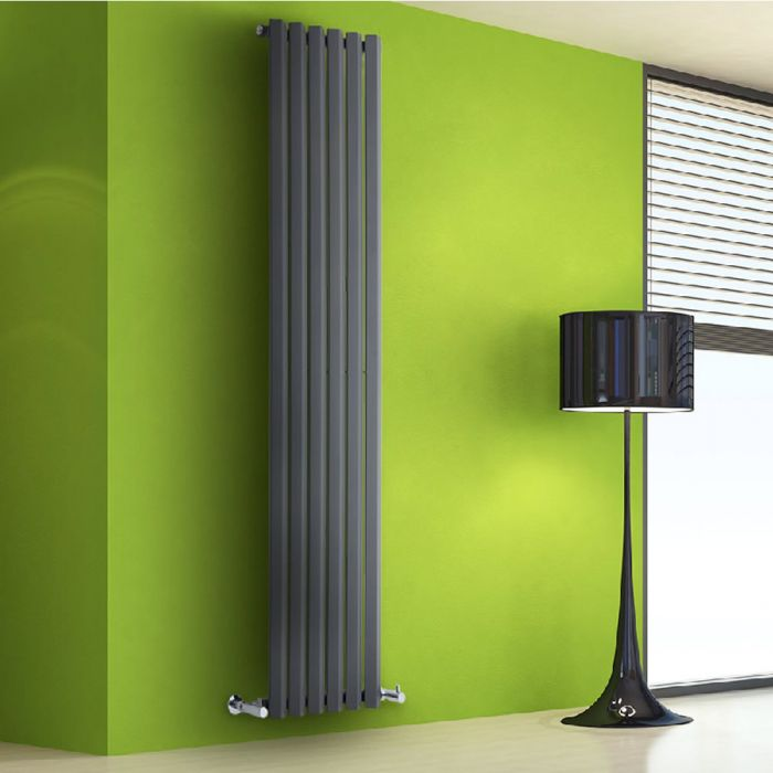 Radiatore di Design Verticale - Antracite - 1780mm x 420mm x 60mm - 1050 Watt - Rombo