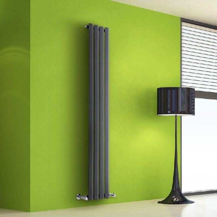 Radiatore di Design Verticale - Antracite - 1600mm x 280mm x 60mm - 630 Watt - Rombo