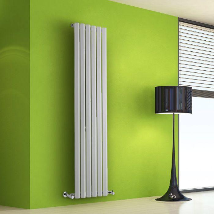 Radiatore di Design Verticale - Bianco - 1600mm x 420mm x 60mm - 946 Watt - Rombo