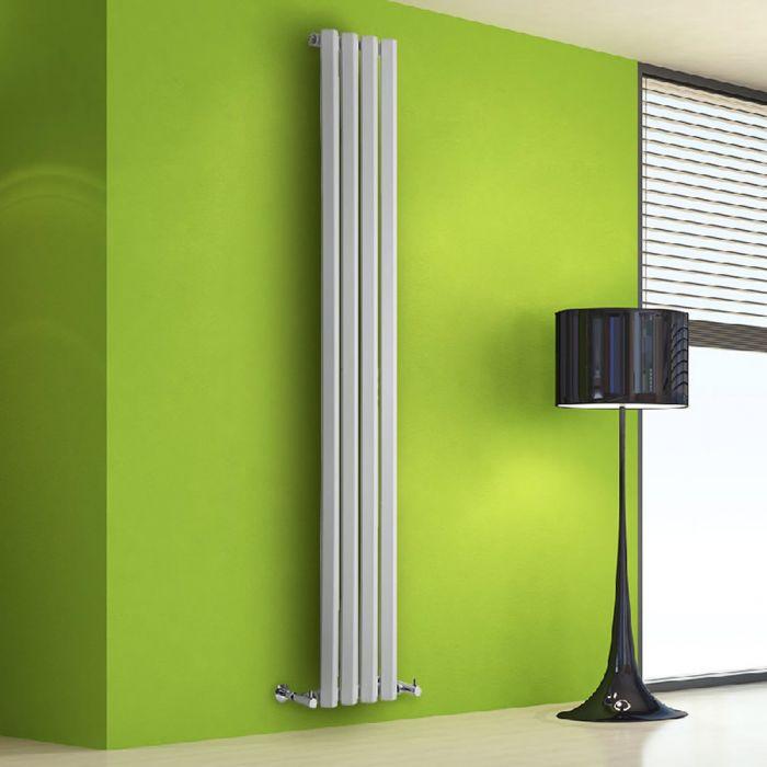 Radiatore di Design Verticale - Bianco - 1780mm x 280mm x 60mm - 700 Watt - Rombo