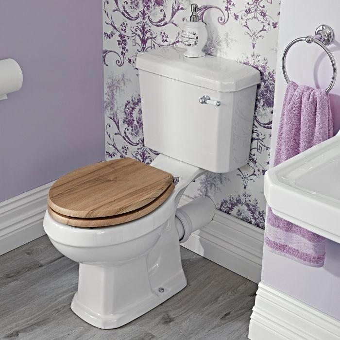 Sanitario WC Retro Completo di Cassetta con Scelta di Sedili Copri WC