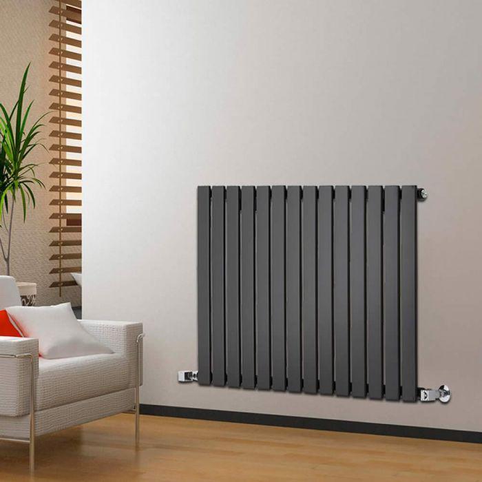Radiatore di Design Orizzontale - Nero - 635mm x 980mm x 46mm - 876 Watt - Delta