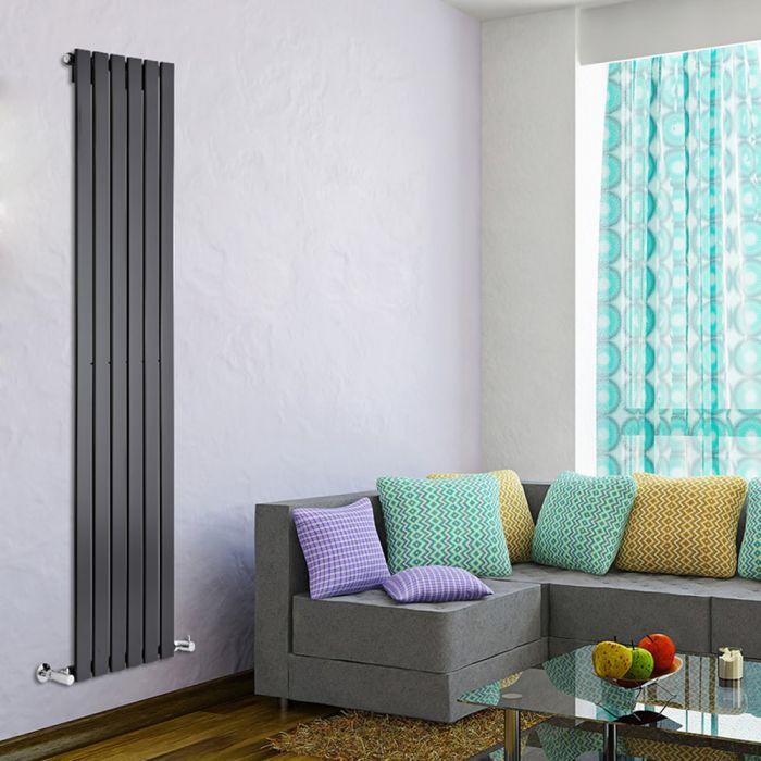 Radiatore di Design Verticale - Nero - 1780mm x 420mm x 47mm - 987 Watt - Delta