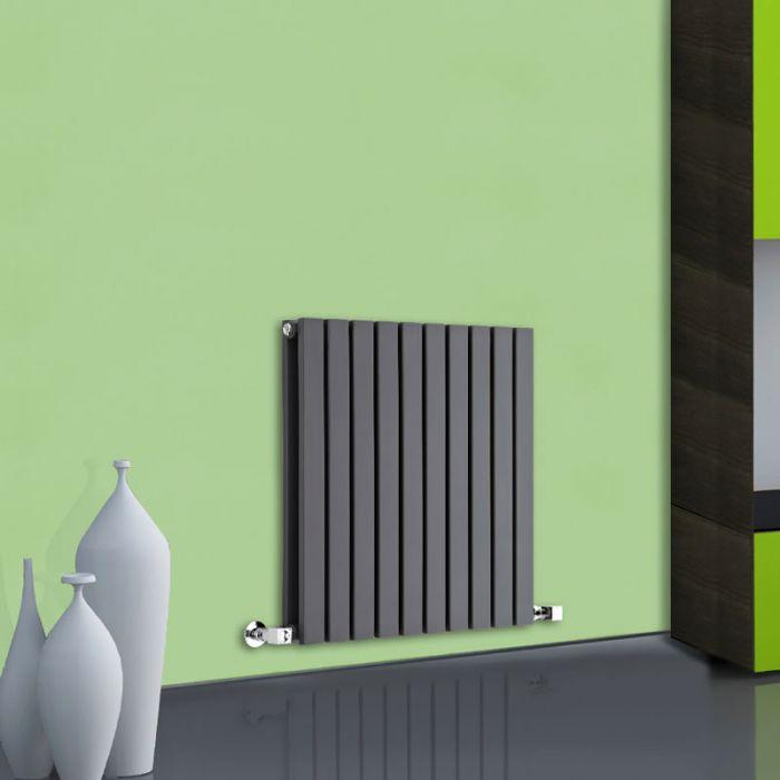 Radiatore di Design Orizzontale Doppio - Antracite - 635mm x 600mm x 71mm - 934 Watt - Sloane