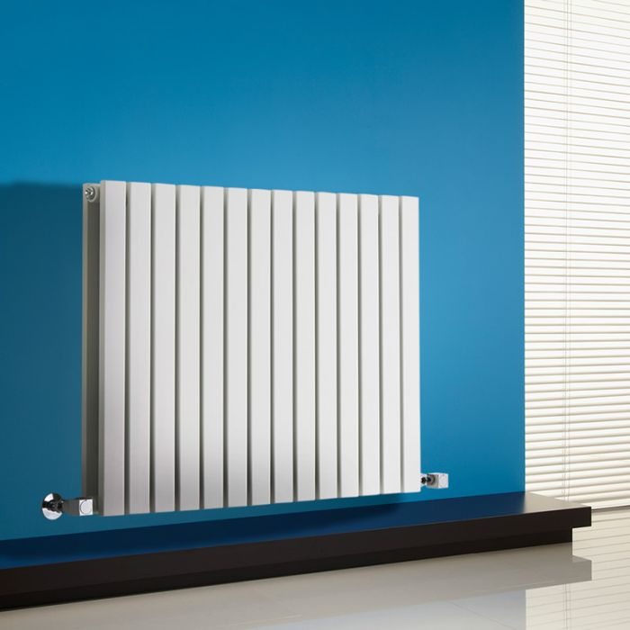 Radiatore di Design Orizzontale Doppio - Bianco - 635mm x 834mm x 71mm - 1307 Watt - Sloane