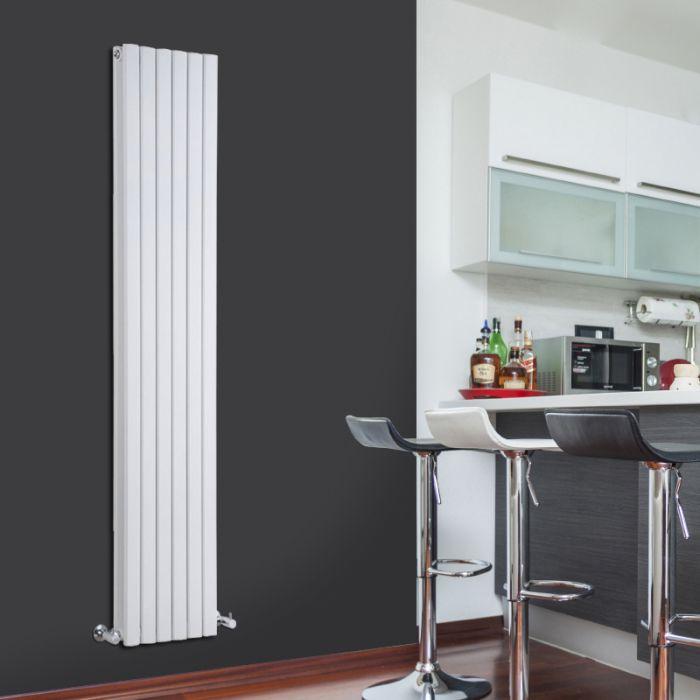 Radiatore di Design Verticale Doppio - Bianco - 1780mm x 354mm x 72mm - 1448 Watt - Sloane