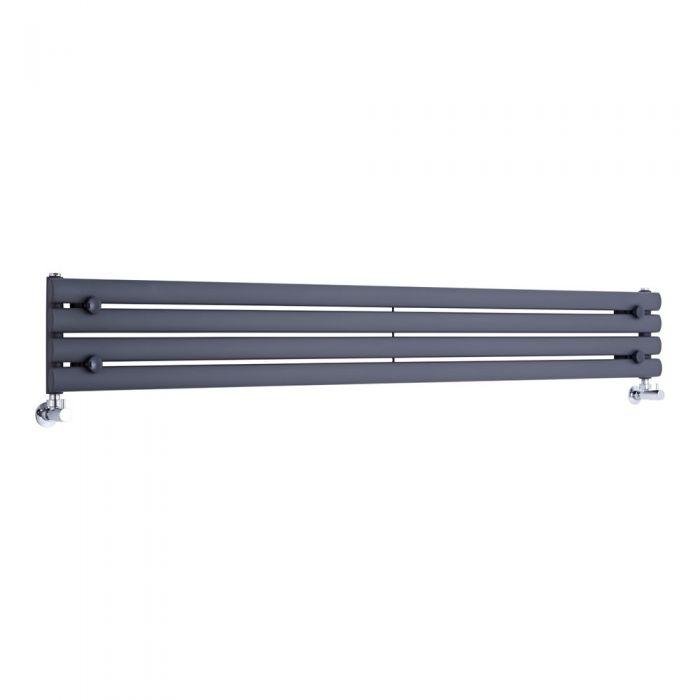 Radiatore di Design Orizzontale  - Antracite - 236mm x 1780mm x 56mm - 647 Watt - Revive