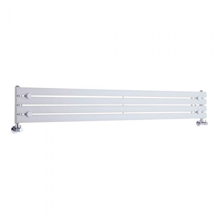Radiatore di Design Orizzontale  - Bianco - 236mm x 1780mm x 55mm - 647 Watt - Revive