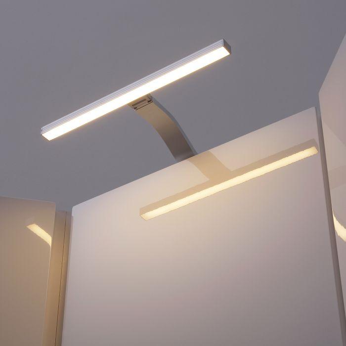 3 Illuminazione x 3 LED Sopra Armadietto con Lampada Rettangolare 3,5 W e Trasformatore