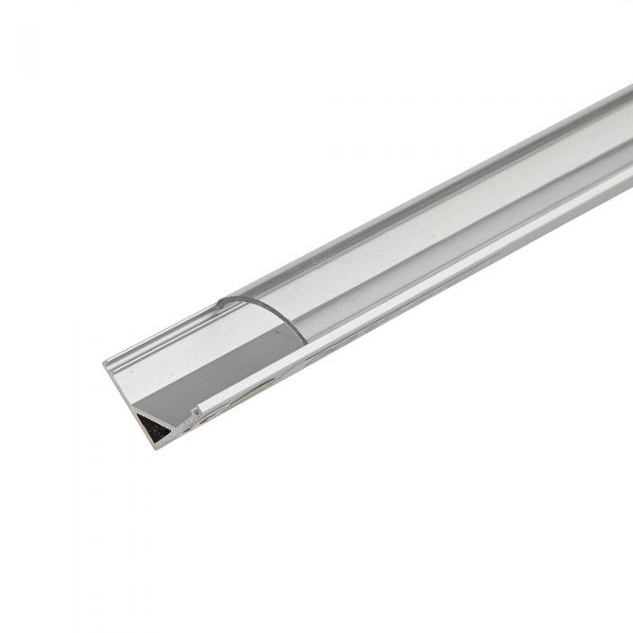 Biard Copertura Alluminio Angolare per Illuminazione LED 100cm