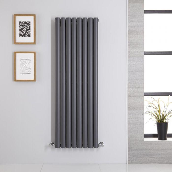Radiatore di Design Verticale Doppio - Antracite - 1400mm x 472mm x 78mm - 1396 Watt - Revive
