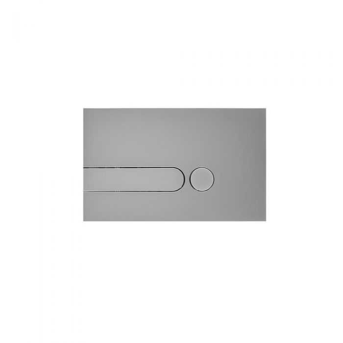 Placca di Comando WC per Cassetta a Incasso Cromato Satinato 150x240mm - Cluo
