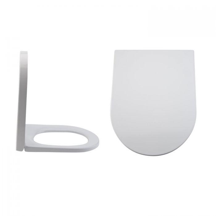 Sedile WC con Chiusura Soft Close con Sgancio Rapido e Fissaggio Superiore - Alswear
