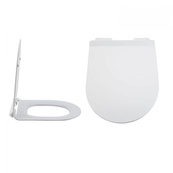Sedile WC con Chiusura Soft Close con Sgancio Rapido e Fissaggio Superiore - Otterton