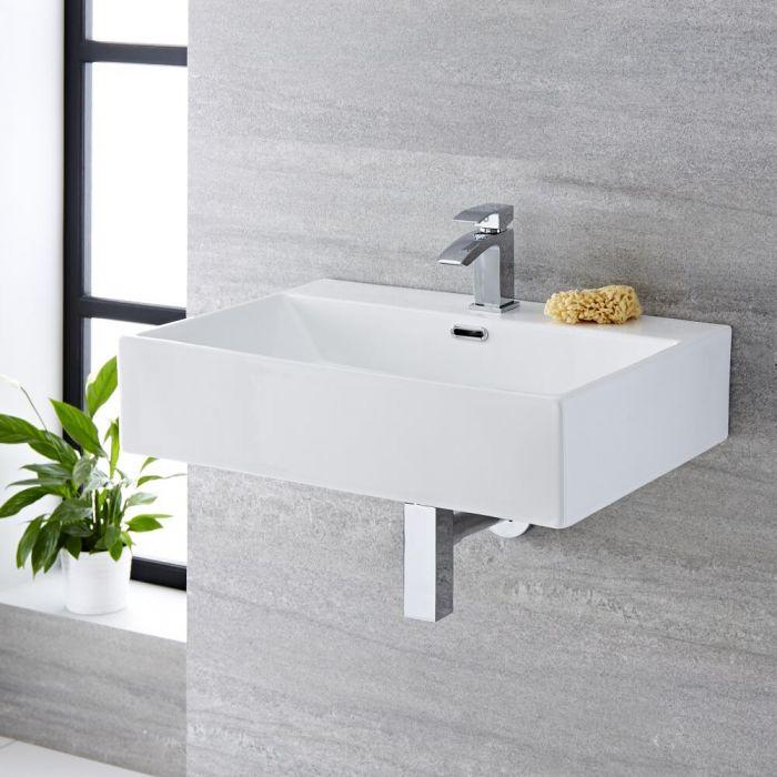 Lavabo Bagno da Appoggio Rettangolare in Ceramica  600x420mm - Sandford