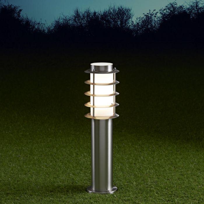 Biard Paletto LED da Esterno 6W in Acciaio Inox 450mm con Lampadina E27 - Belfort