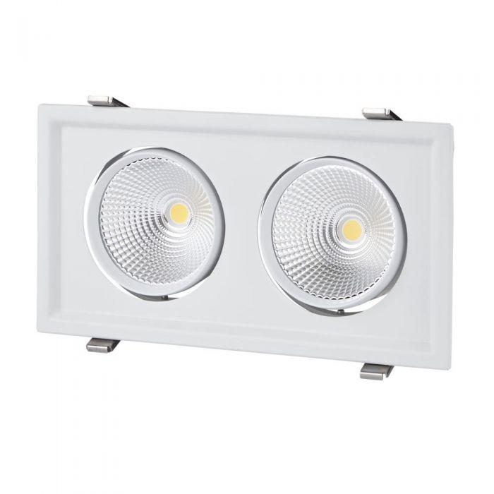 Faretto LED 60W Da Due Luci Orientabili Da Incasso