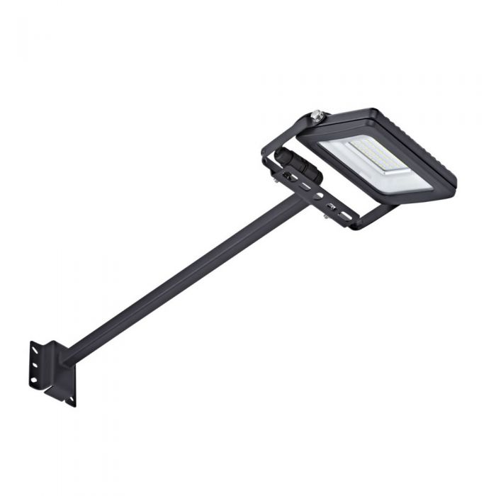 Kit LED per Esterni Completo di con Braccio 0,5m con Faretto Proiettore 20W IP65