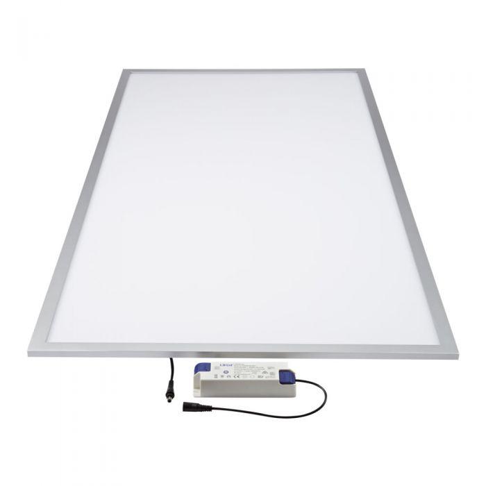 Biard Pannello LED 600x1200mm 60W Struttura con Finitura Color Argento